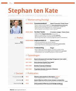 Download het CV van Stephan ten Kate